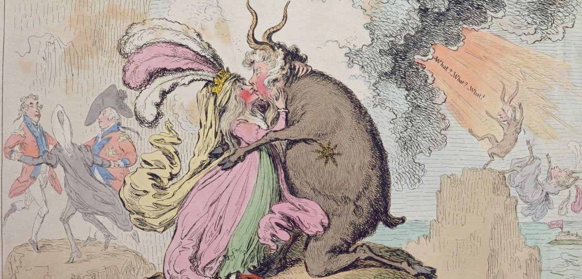 'Enchantments lately seen upon the Mountains of Wales' by James Gillray