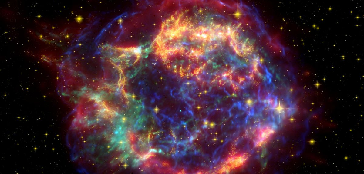A false colour image of Cassiopeia A