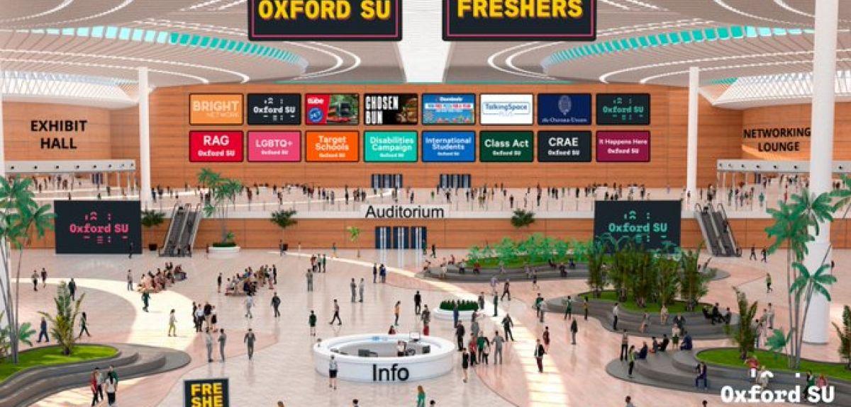 Virtual Freshers' Fair main hall overview