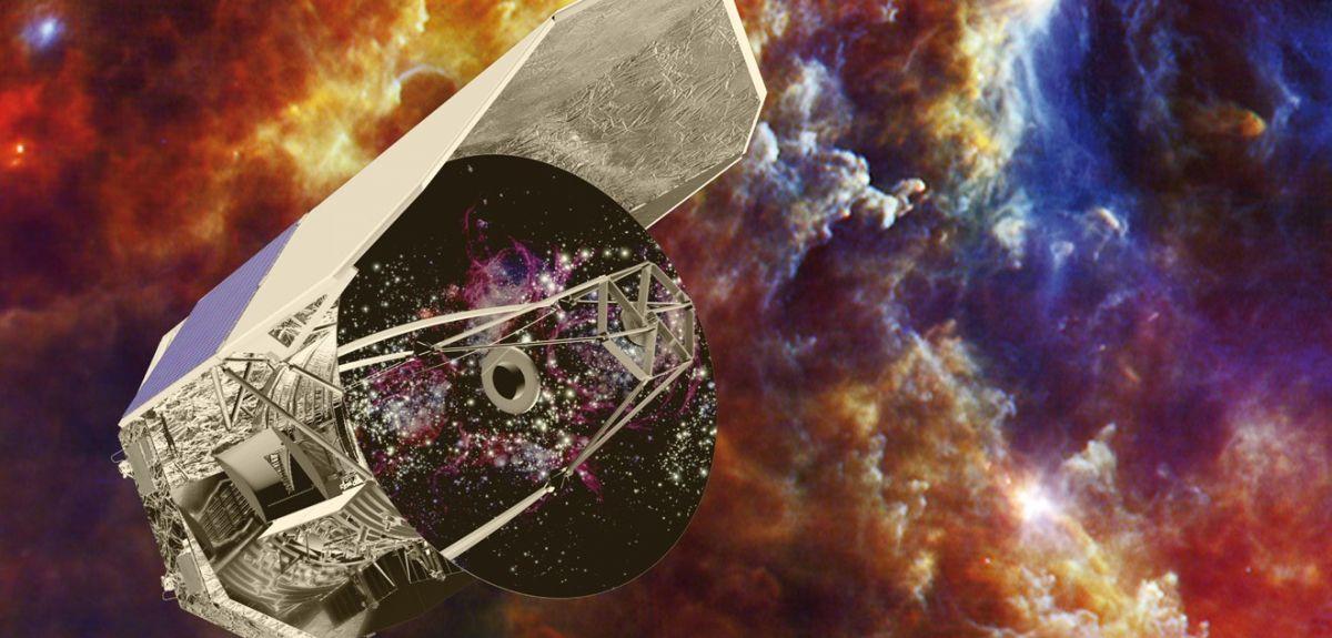 An artist's impression of the European Space Agency Herschel telescope