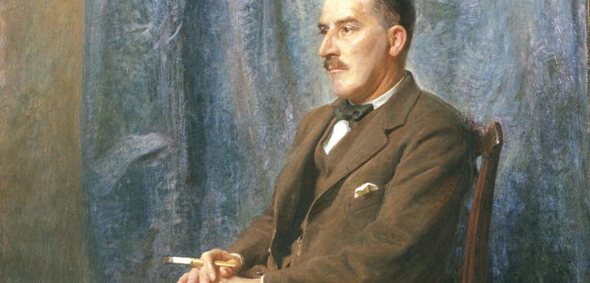 A painting of Howard Carter after his discovery, by his brother William