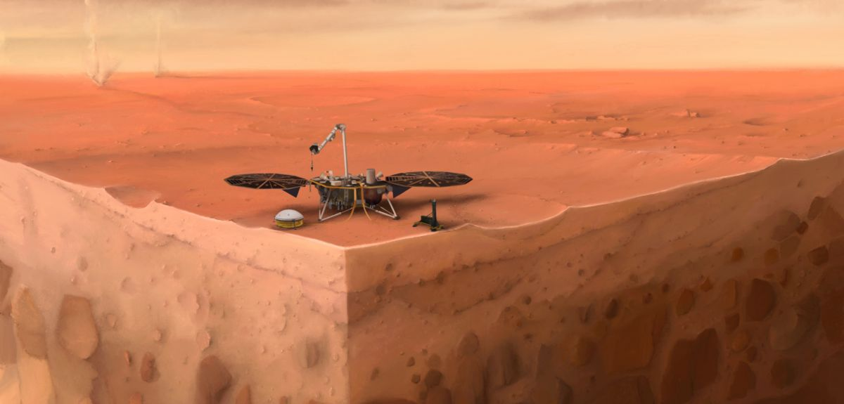 A Cutaway of InSight on Mars