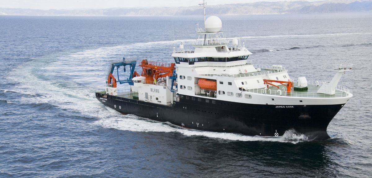 RRS James Cook at Sea