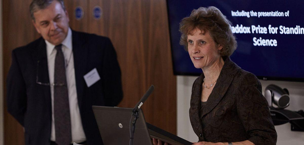Susan Jebb speaks after receiving her John Maddox Award