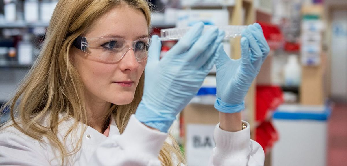 Image of a female researcher at work