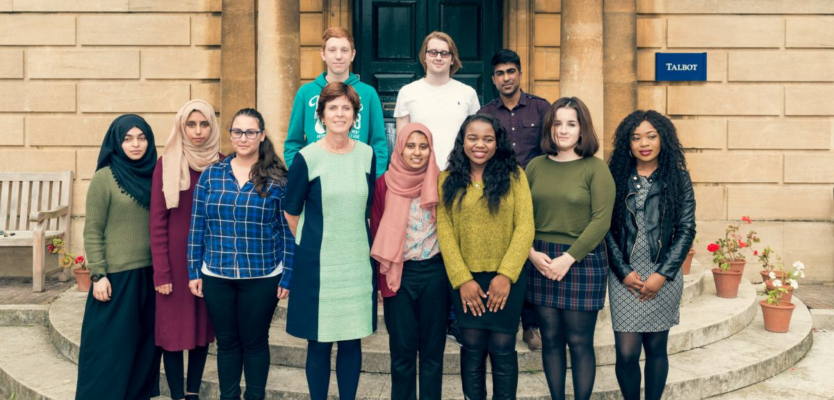 Oxford's Vice-Chancellor with LMH foundation year students