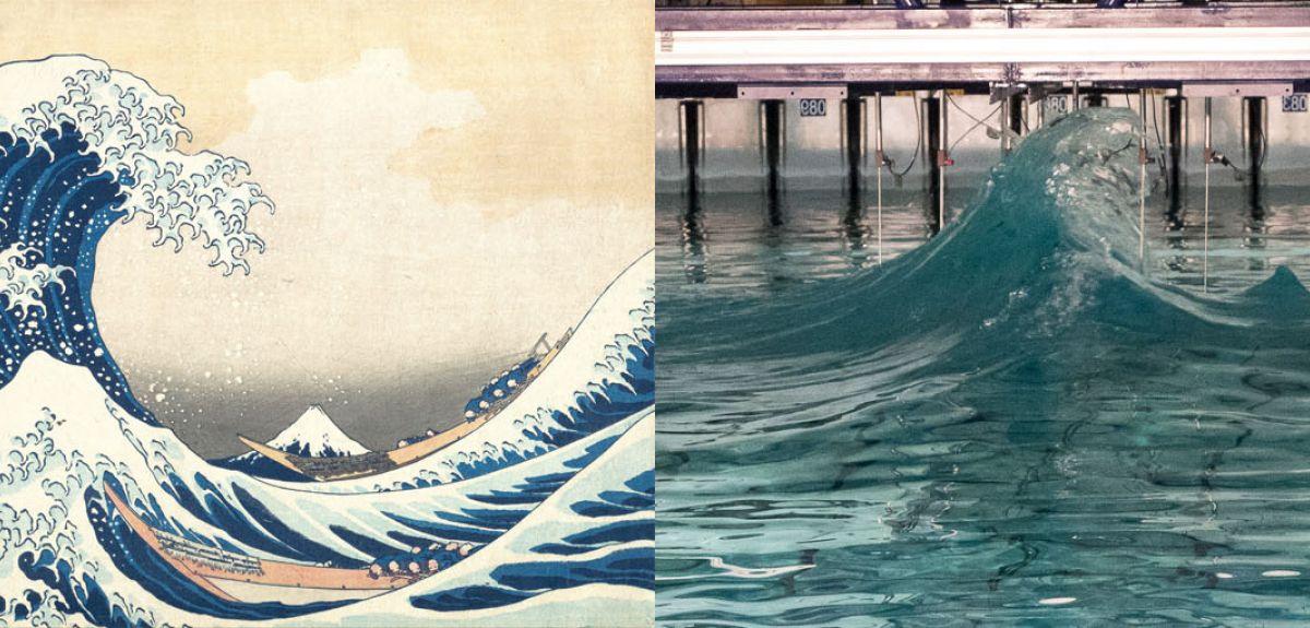 Freak wave and Hokusai