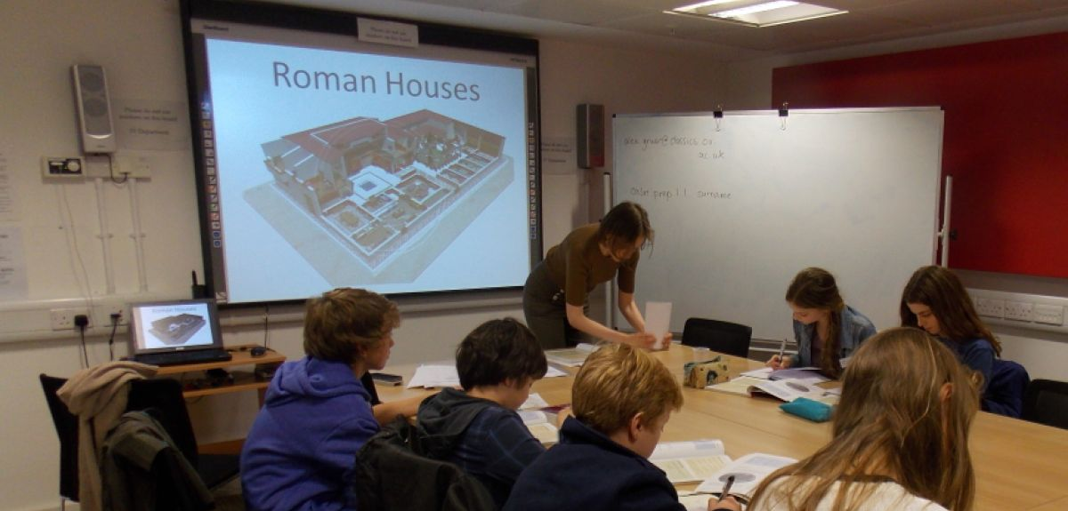 Students learn GCSE Latin at the university's Classics Faculty.