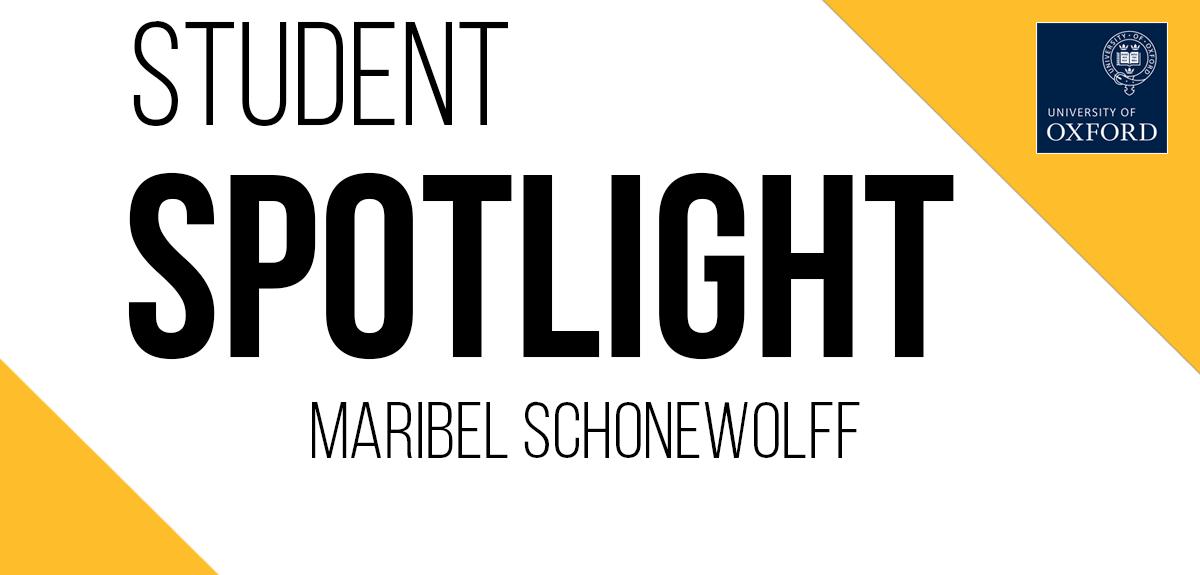 Student spotlight Maribel Schonewolff banner