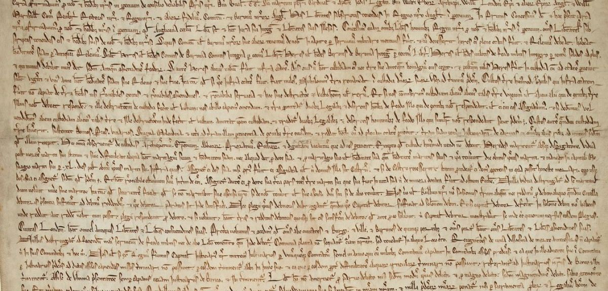 One of the Bodleian's copies of the Magna Carta