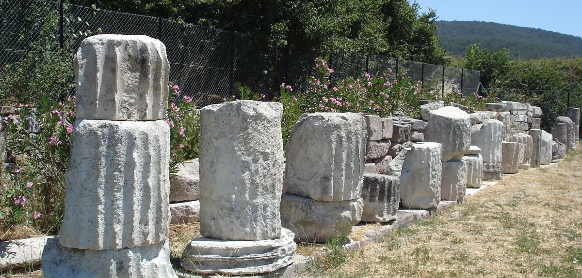 A temple in Lesbos, Greece