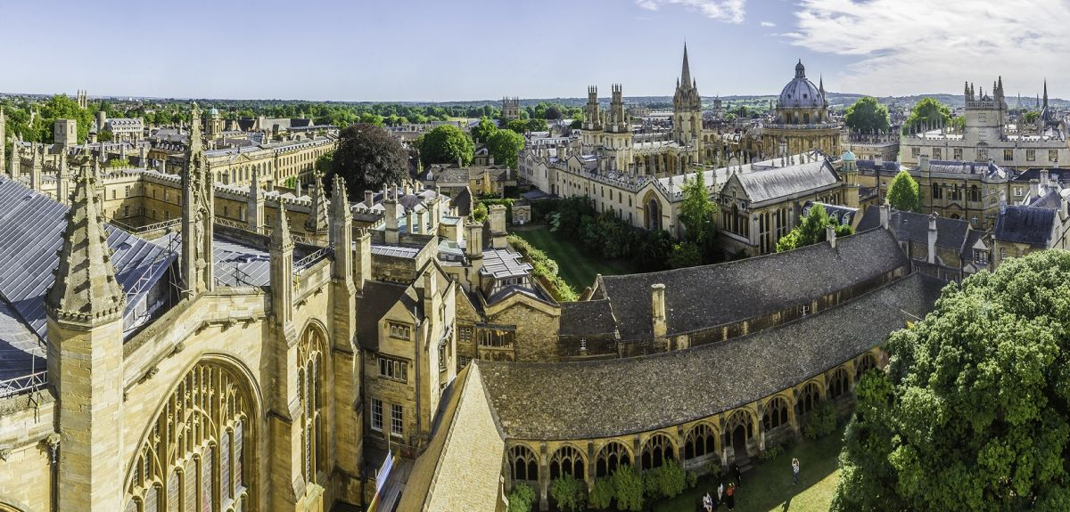 Panoramic Oxford skyline