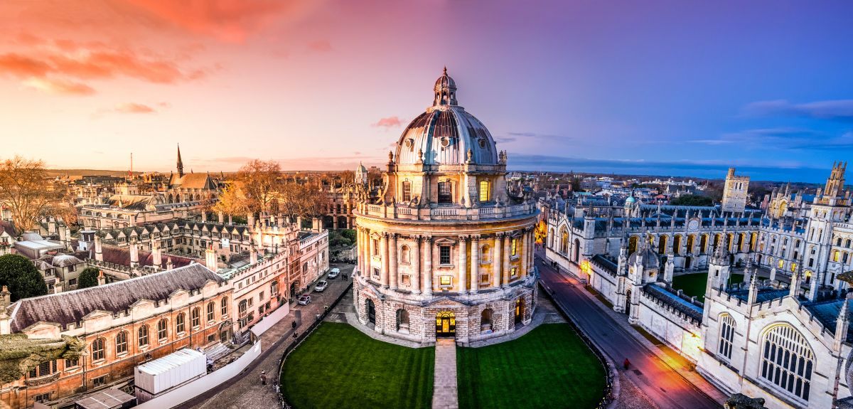 Panoramic view of Oxford