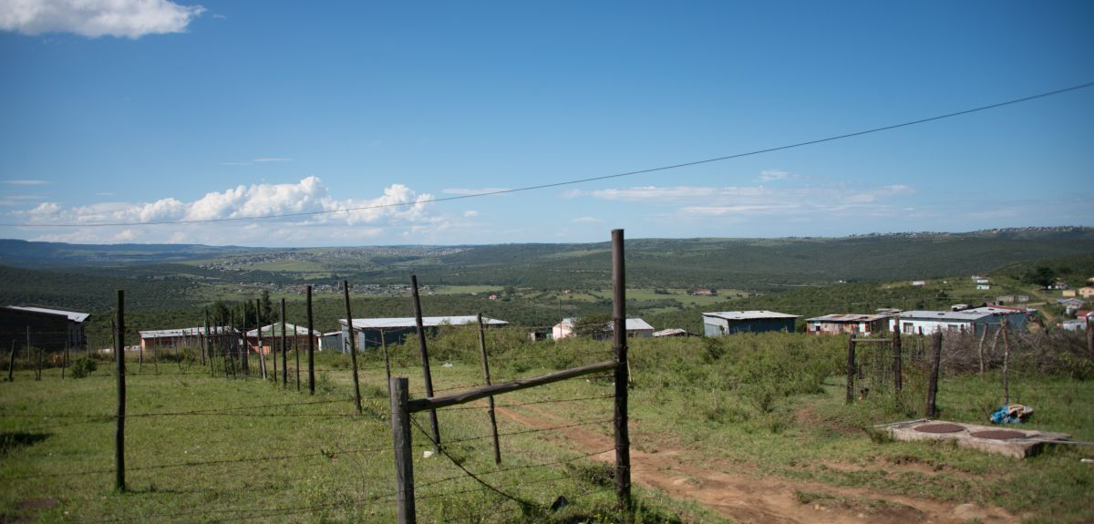Rhamniyaba village, Eastern Cape, one of the centres for Oxford University's pioneering Sinovoyu Caring Families Project