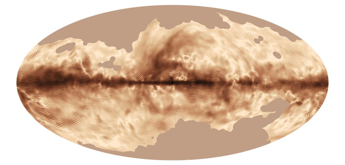 The magnetic field of our Milky Way Galaxy as seen by ESA's Planck satellite.