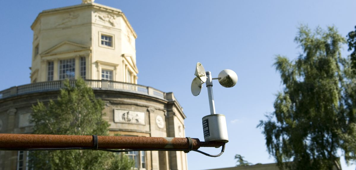 Radcliffe Meteorology station in front of Radcliffe Observatory