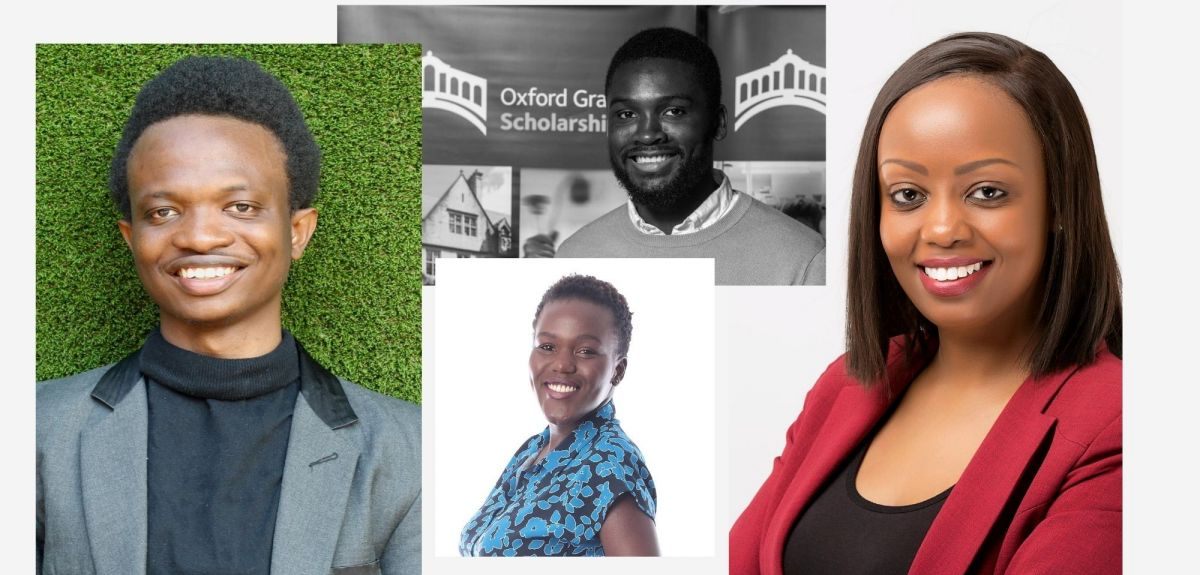 Collage images of the four Oxford Rare Rising Stars Award winners