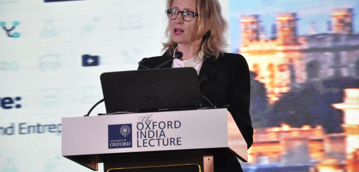 Professor Robyn Norton gives the first Oxford India Lecture