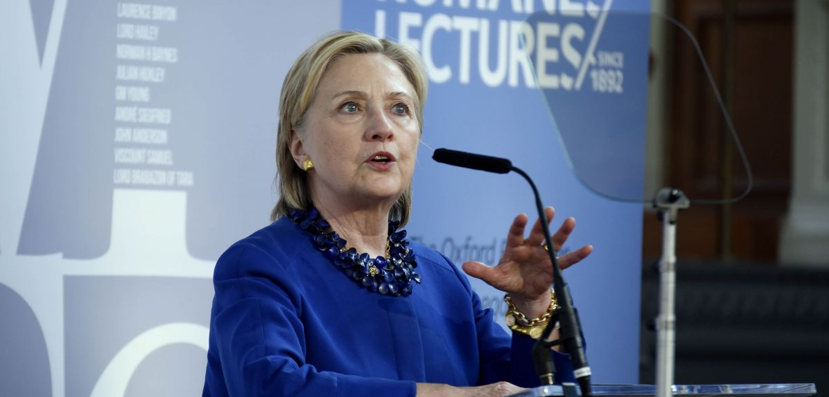 Hillary Clinton delivers Romanes Lecture of hope