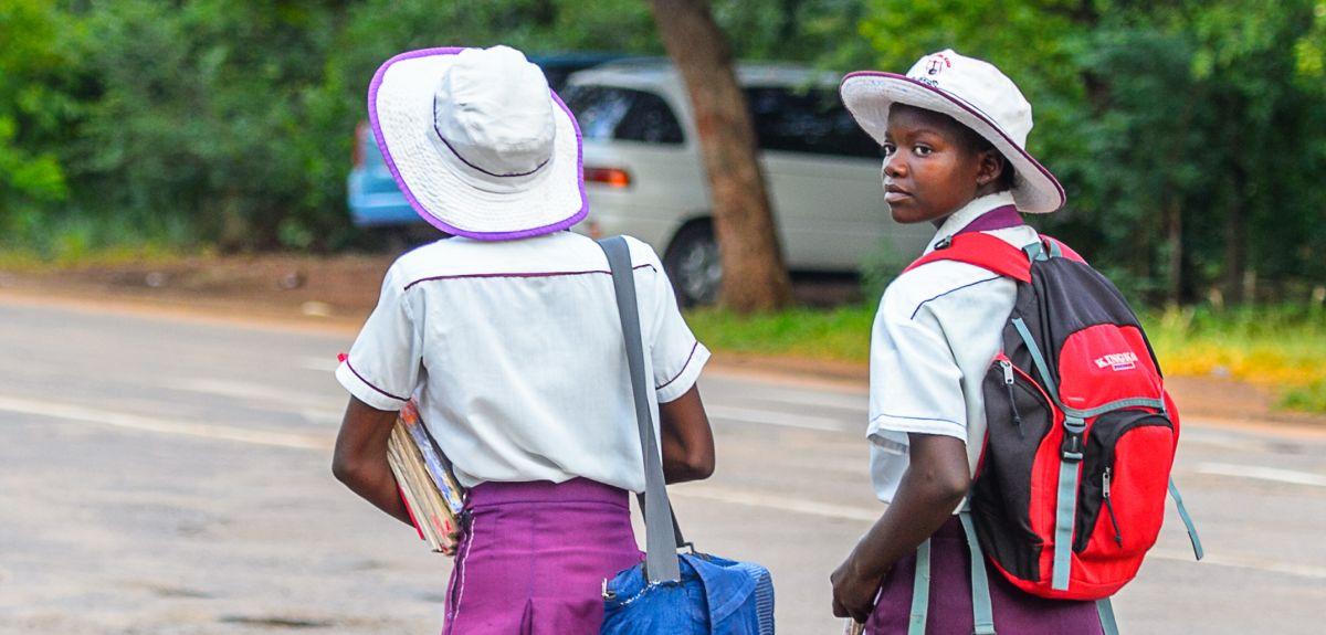Schoolgirls in Zimbabwe