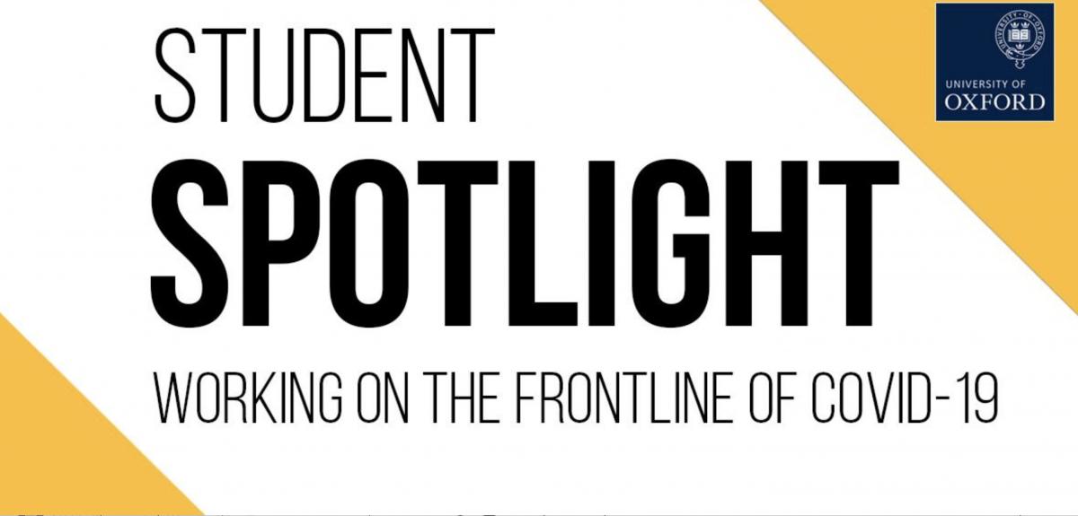 Student Spotlight banner. Credits: University of Oxford