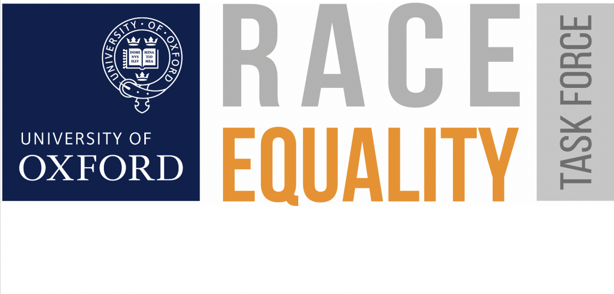 Race equality task force banner. Credits: University of Oxford