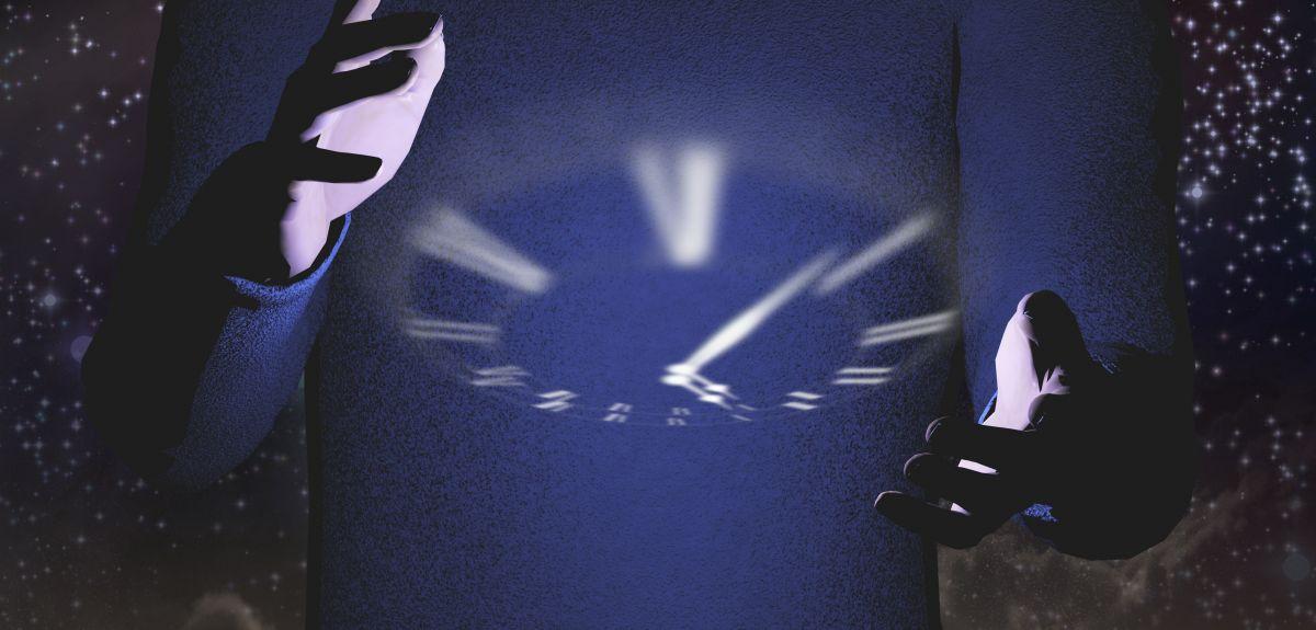 Clock dial illustration