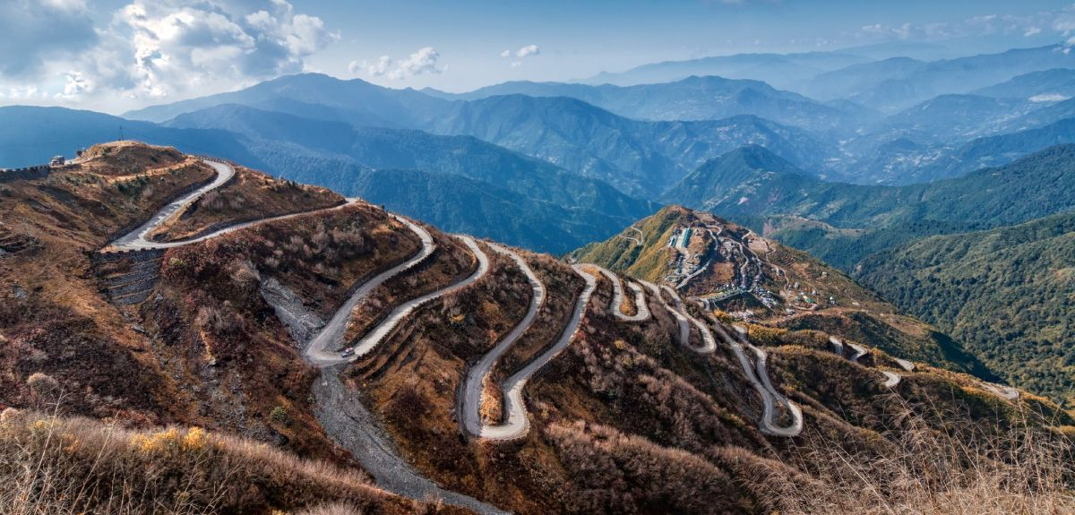A long winding mountain path across the original silk roads
