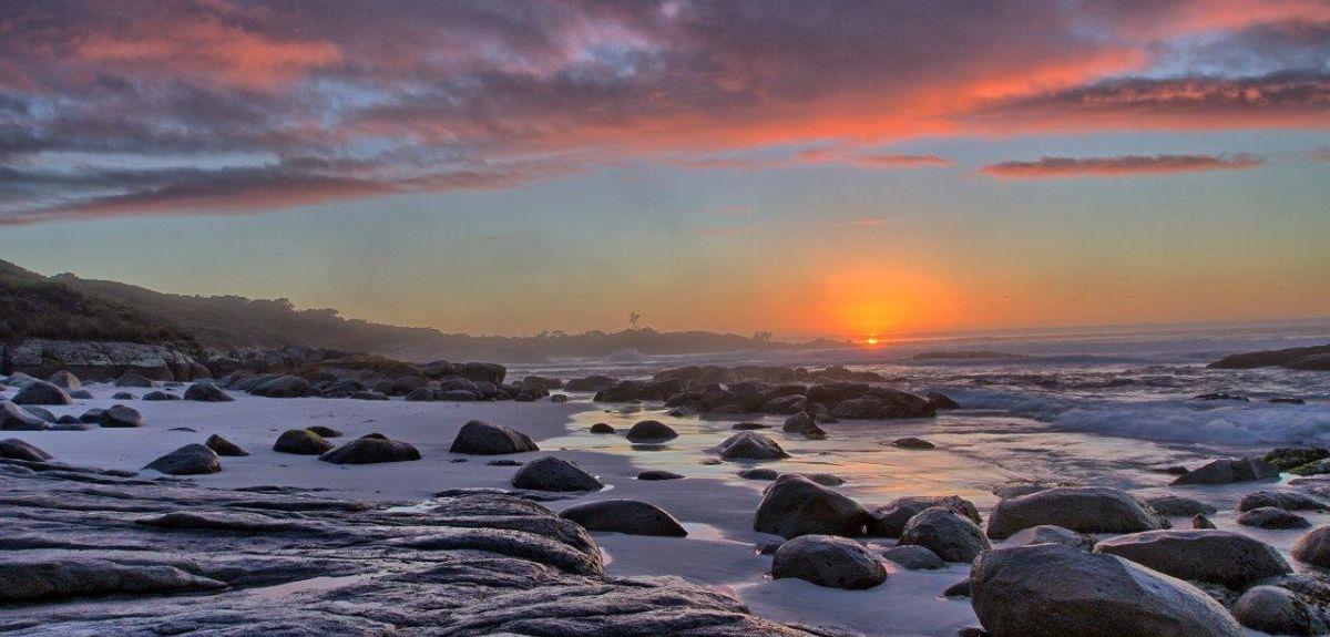 The Bay of Fires, Tasmania. Richard Flanagan was born on the island.