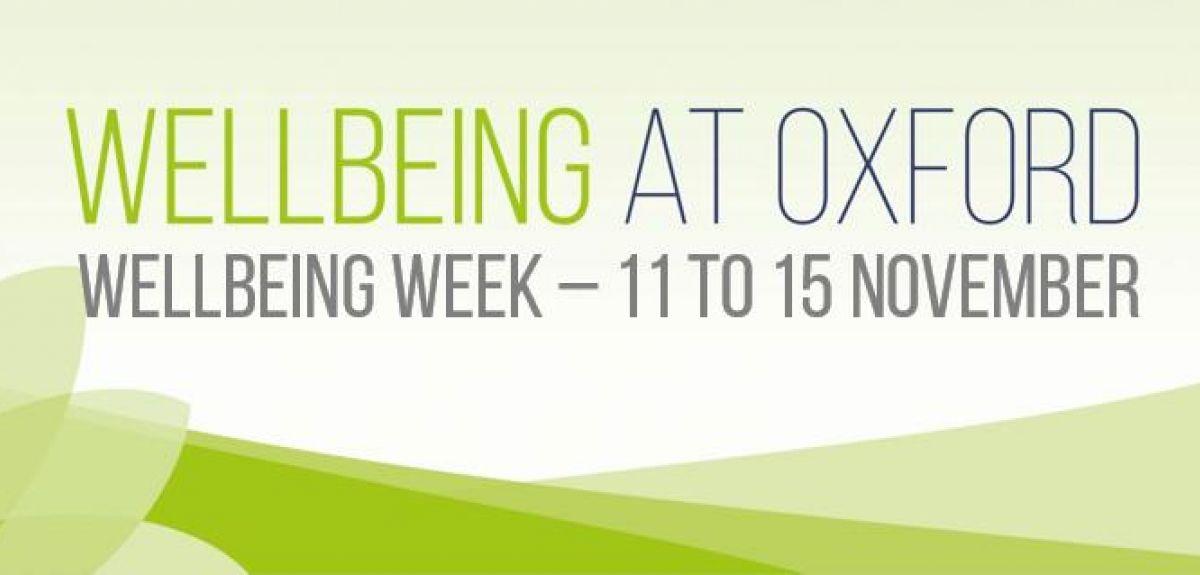 Wellbeing Week - 11 to 15 November
