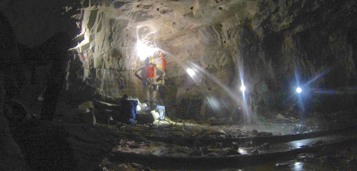 Energy rich waters discharge kilometres below the surface in South African gold mine