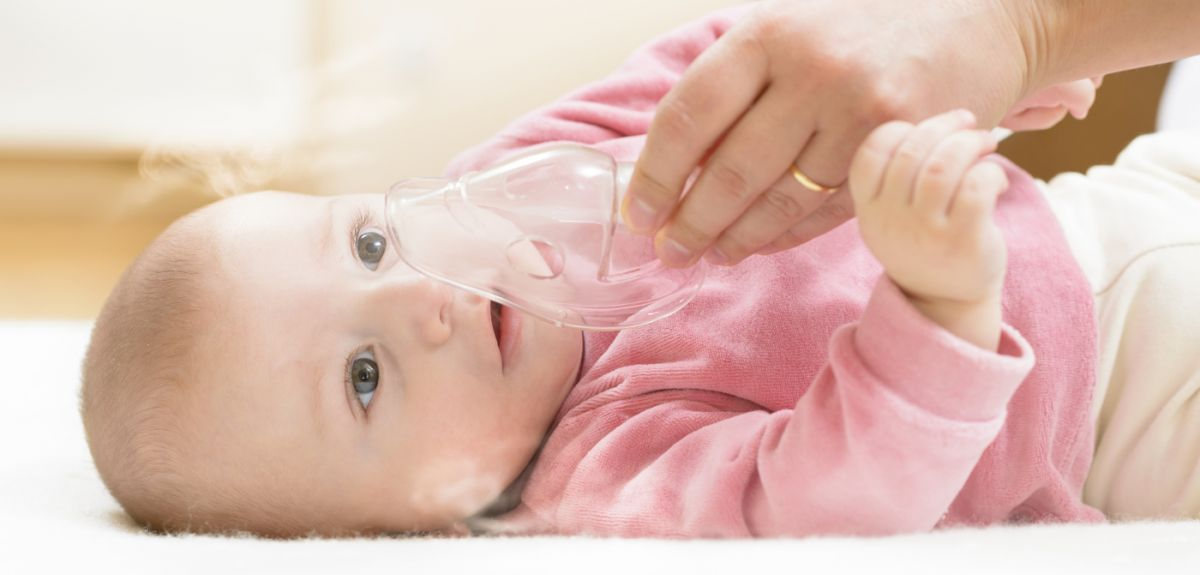 Child receiving respiratory support