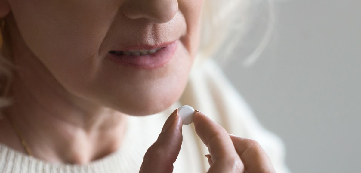 RECOVERY trial participant takes antibiotic