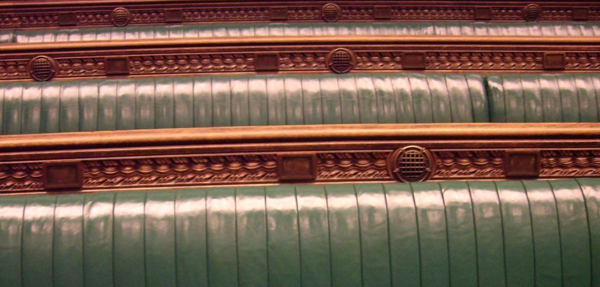 UK House of Commons benches