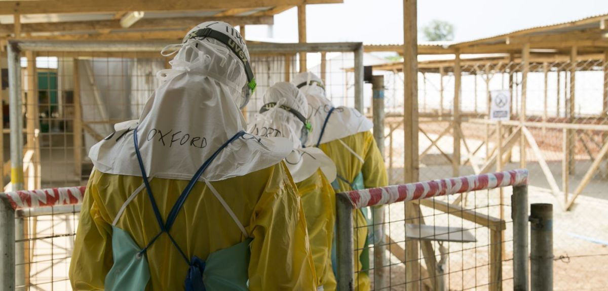 Oxford researchers taking part in an Ebola drug trial