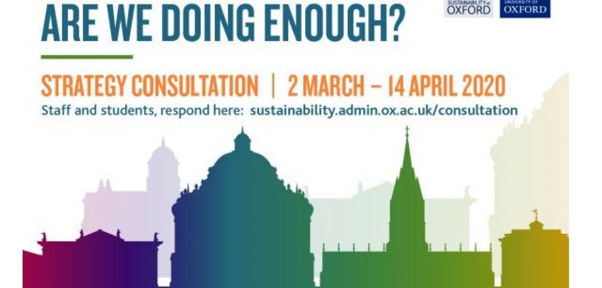 Environmental sustainability consultation