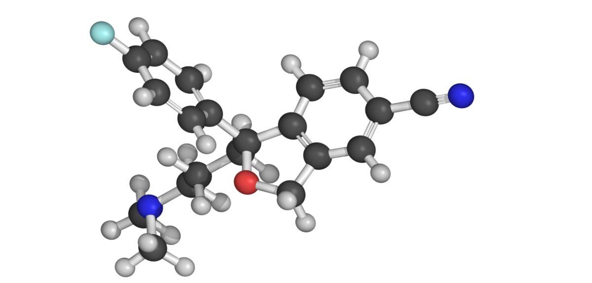 Escitalopram molecule