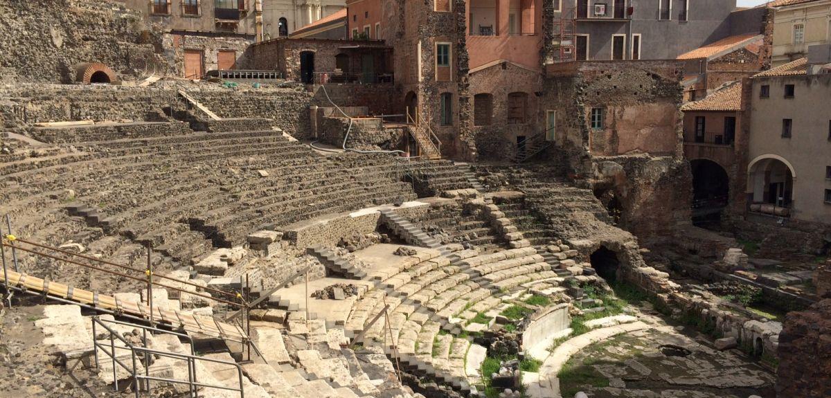 The Roman theatre at Catania, Sicily