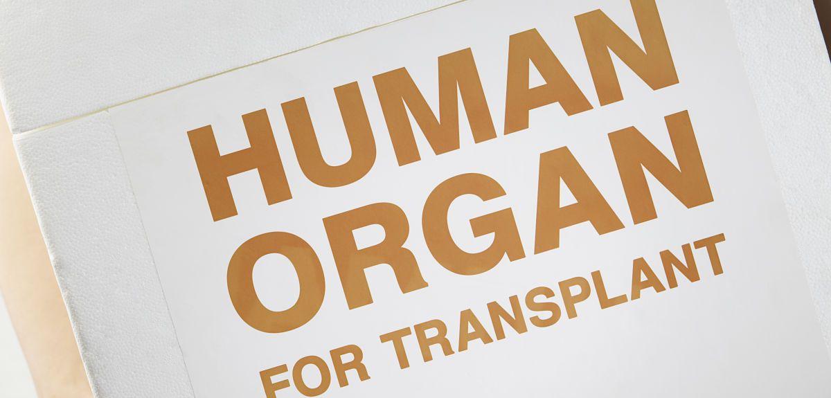 Human organ transport box