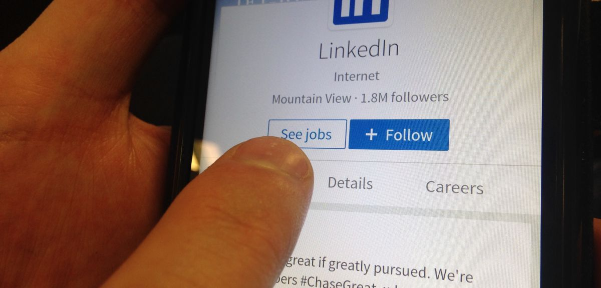 LinkedIn page for jobs