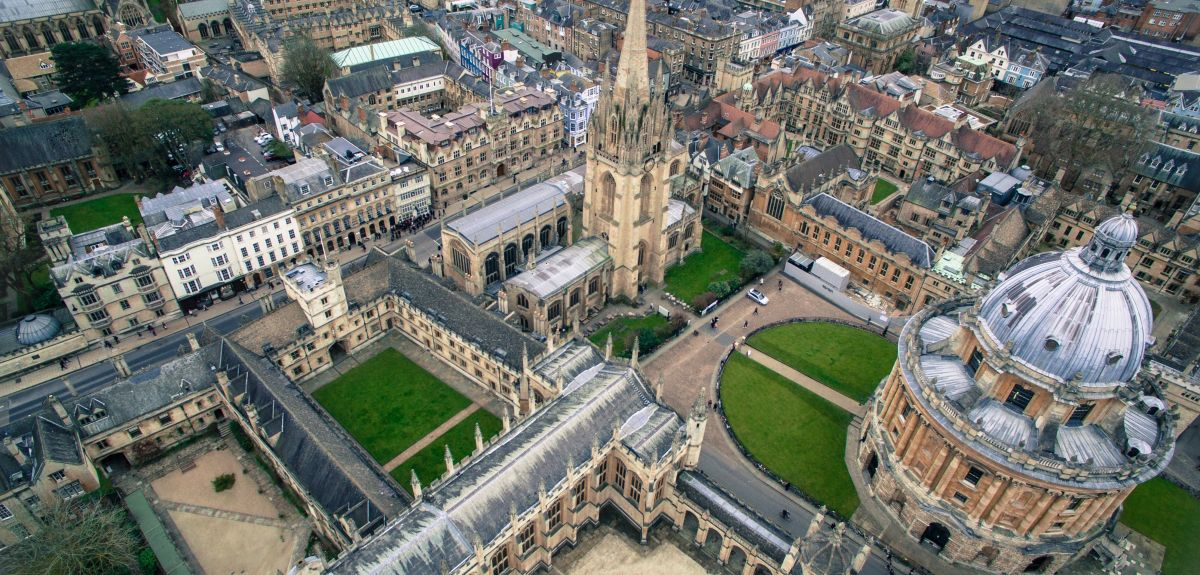 Birdseye view of Oxford city centre. Credits: Sidharth Bhatia via Unsplash