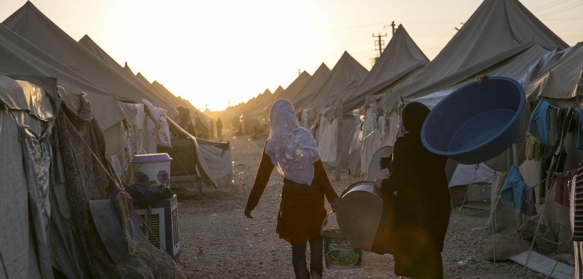 The Akcakale refugee camp in Turkey