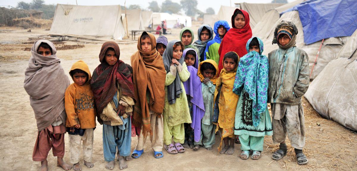 Disaster-hit children in Pakistan