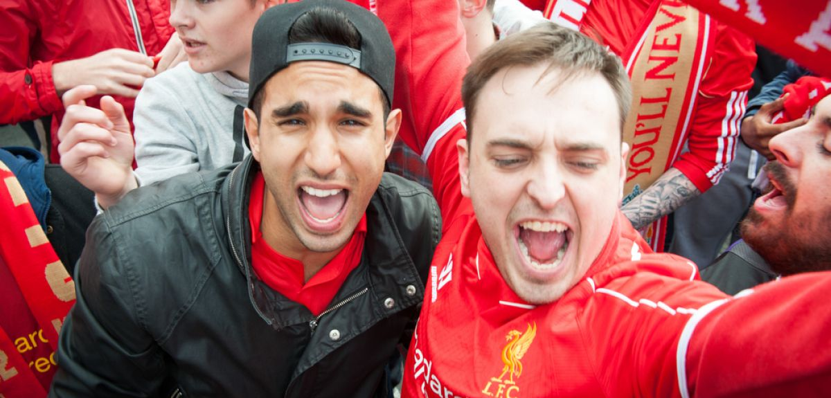 Liverpool Football Club supporters.