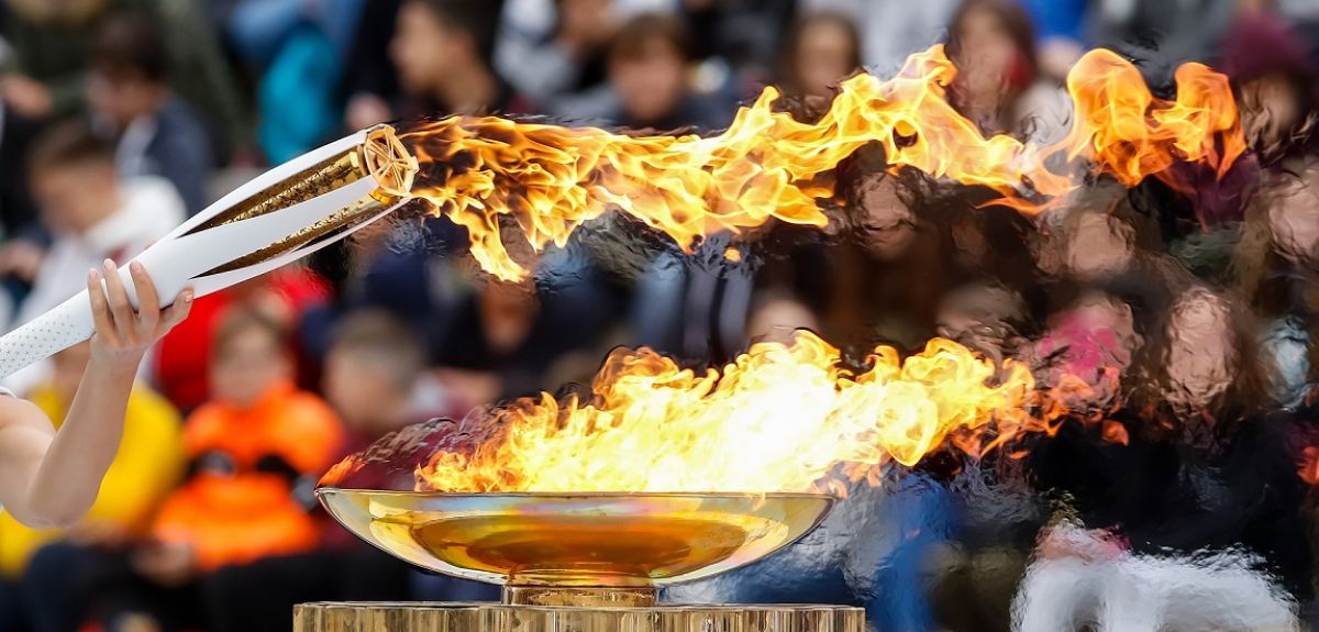 Olympic flame, Athens, 2017