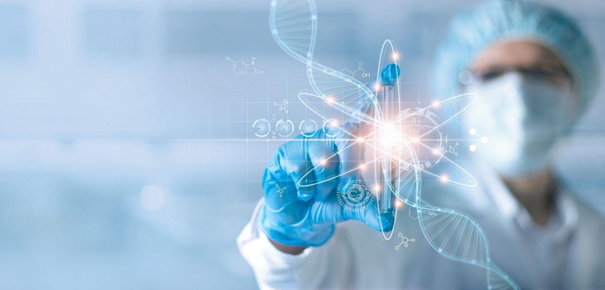 Graphical illustration of futuristic diagnostics testing