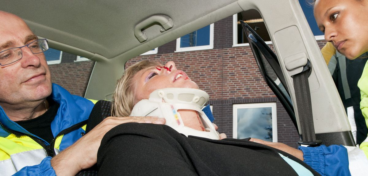 Many spinal injuries result from road accidents