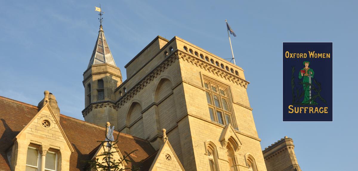 Oxford suffrage flag