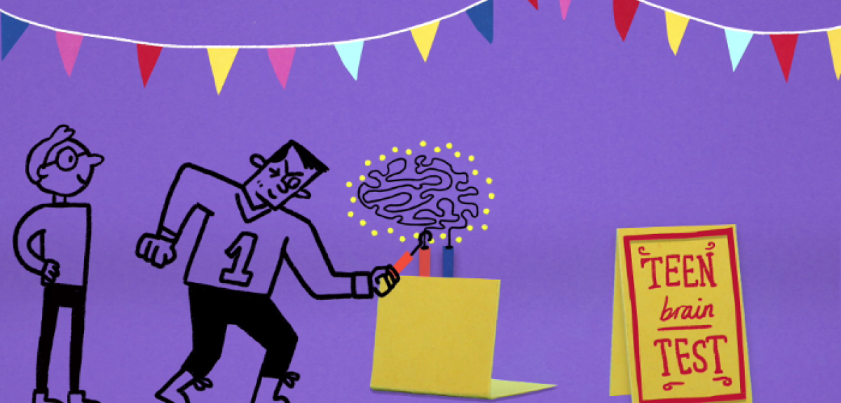 A new Oxford Spark's animation highlights new Oxford University research surrounding how the brain changes during our teenage years, and how much this developmental period influences people's behaviours. Image credit: Oxford University
