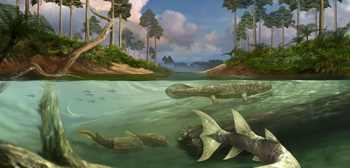 The Devonian Mural from the Field Museum of Natural History in Chicago